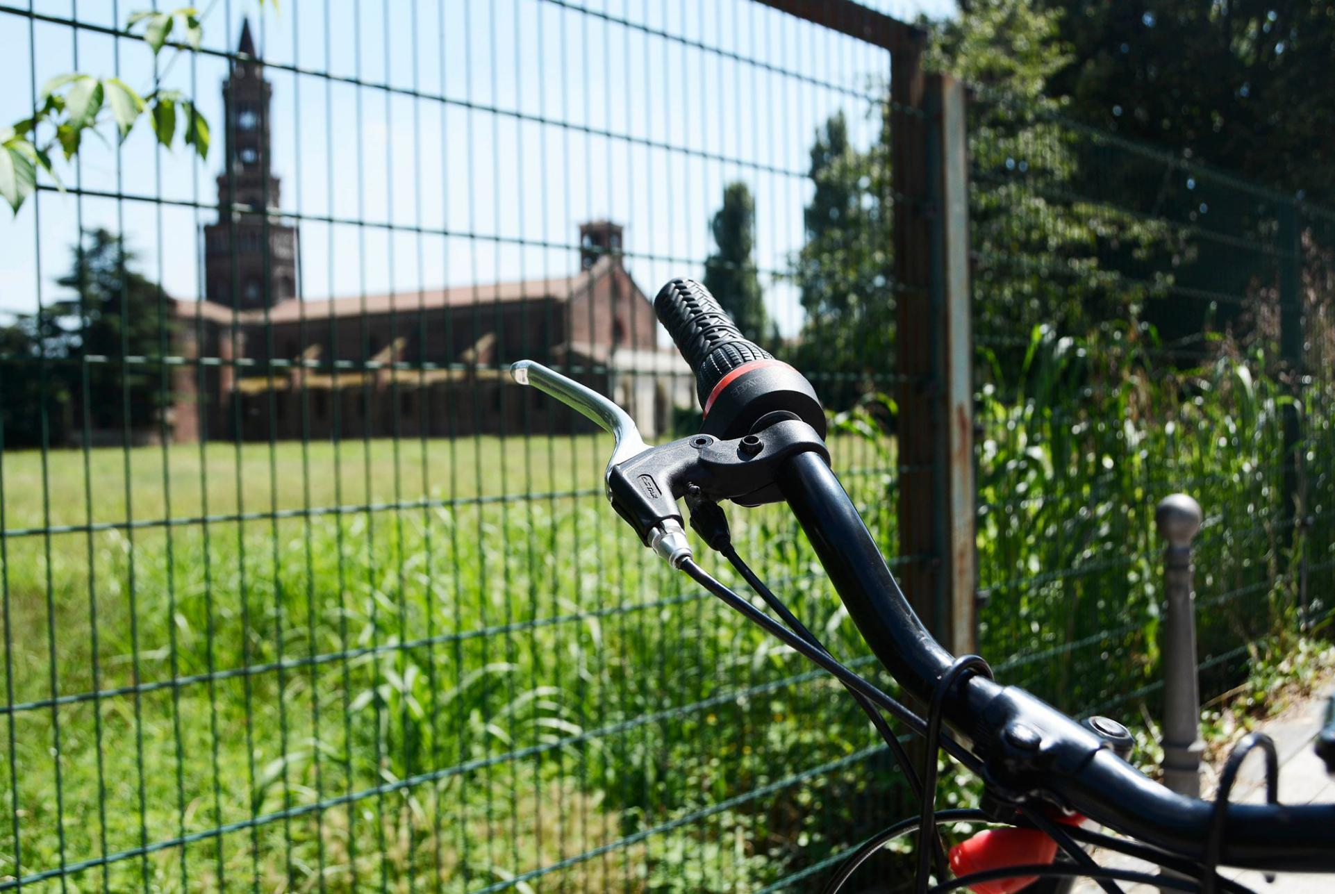 Cycling to Chiaravalle Abbey