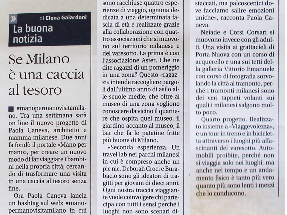 IL GIORNALE - Giovedì 14 Luglio 2016 - Se Milano è una caccia al tesoro
