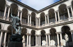 Cortile Pinacoteca di Brera Milano