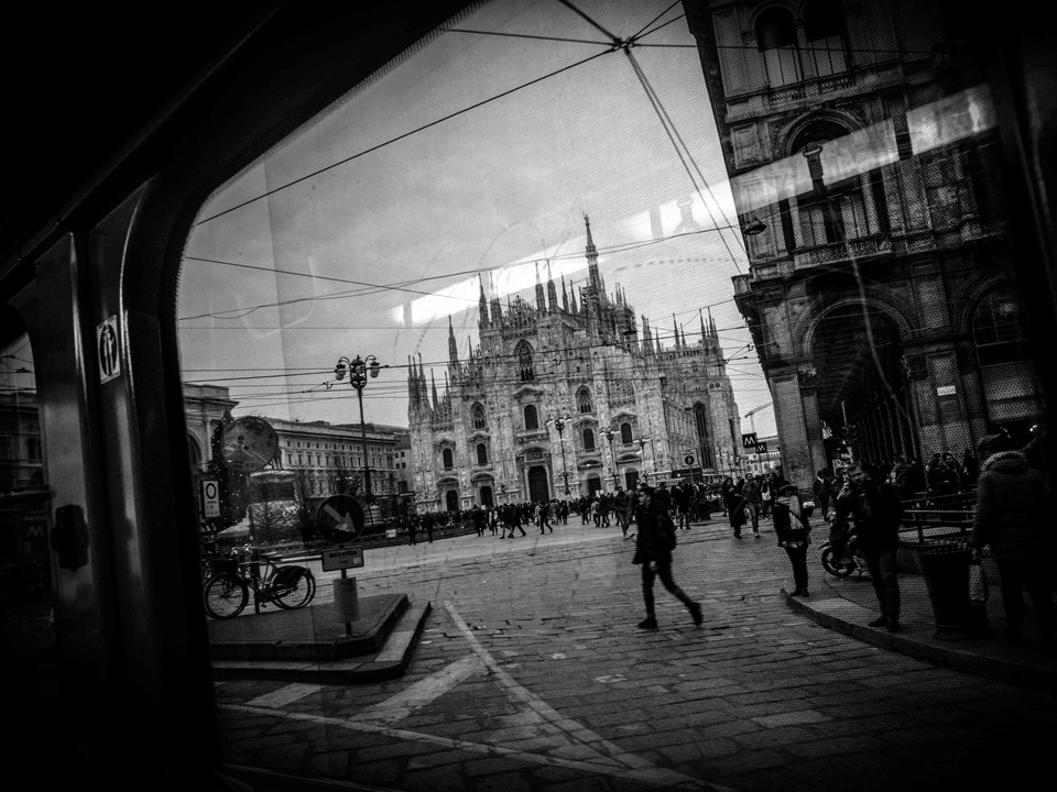 milano vista da un tram